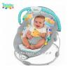 Bright Starts Шезлонг за бебе музикален с вибрации от серията TaGgies Soft and Snug Leafscape - 60023