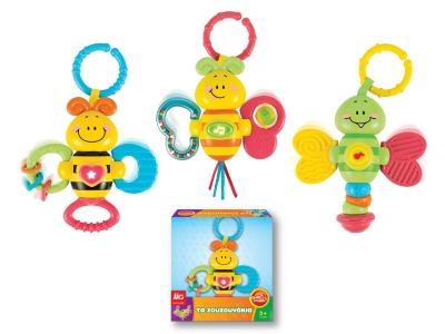 Музикални играчки - залъгалки за количка с животинки от MG Toys - 403034