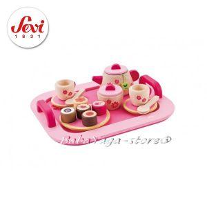 СЕРВИЗ за ЧАЙ дървена играчка от Sevi - 82314