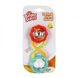 Bright Starts Дрънкалка за бебе ЦВЕТЕ Rattle & Shake Barbell - 8188