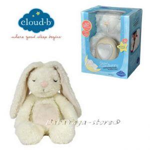 7405 ЗАЙЧЕ плюшено с туптящо и светещо СЪРЦЕ от CloudB, Glow Cuddles Bunny