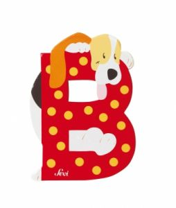 SEVI Буква дървена B - Basset-hound