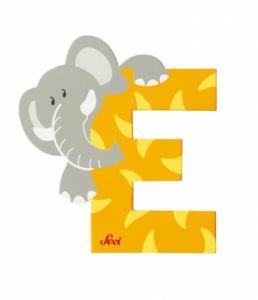 SEVI Буква дървена E - Elephant