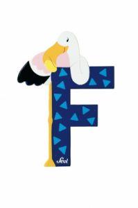 SEVI Буква дървена F - Flamingo