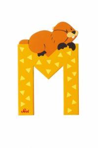 Дървена буква за декорация M - Marmot с марката Sevi - 81613