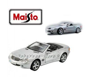 Maisto Premiere Edition КОЛА 1:18 MERCEDES Benz SL-Class - сребрист - 36623