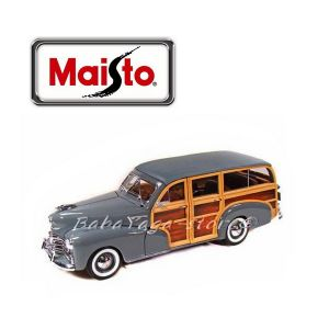 Maisto Premiere Edition КОЛА 1948 CHEVROLET FLEETMASTER (woody) 1:18 - сив - 36854