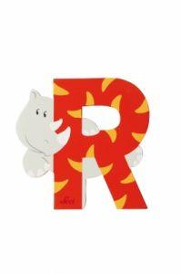 SEVI Буква дървена R - Rhinoceros