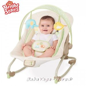 Bright Starts Шезлонг за бебе музикален с вибрации COMFORT & Harmony Cradling Rock ELEPALOО - 60113