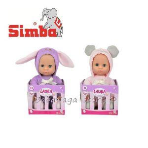Simba My Love Кукла Лаура в дрешка на мишка или заек, 2 вида; 27 см - 5011040