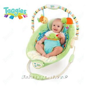 Bright Starts Шезлонг за бебе музикален с вибрации от серията TaGgies Soothe Me Softly - 60024