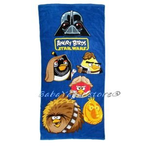 Детска Хавлия - Angry Birds Star Wars beach towel 70x140 - т.синя
