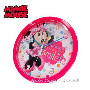 Стенен часовник за детска стая МИНИ Маус - Minnie Mouse Clock 25cm 10552