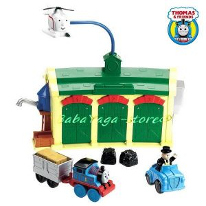 Игрален комплект Thomas & Friends, Tidmouth Sheds Engine Depot Pre-School, W4712