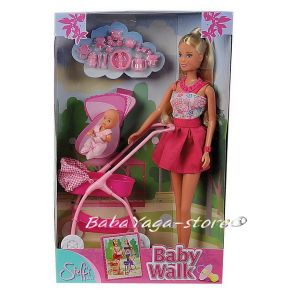 Simba Steffi Love КУКЛА Стефи с количка и бебе (29см) розова - 105733067