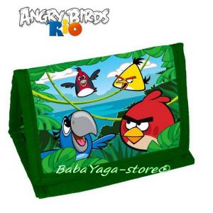Детско ПОРТМОНЕ с героите от Angry Birds RIO - Angry Birds Rio wallet 15996