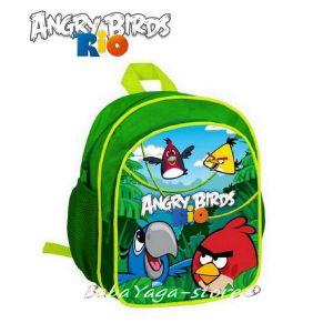 Детска РАНИЦА с героите от Ядосаните птици в Рио, Angry Birds Rio backpack 26cm - 15965