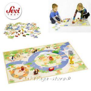 Sevi Puzzle Safari with miniatures - 82625