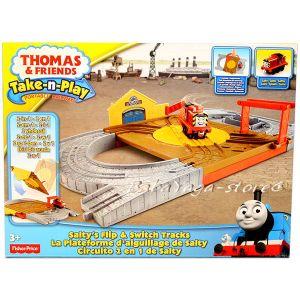 Игрален комплект САЛТИ Thomas & Friends Salty's Flip Track Playset от серията Take-n-Play Fisher Price, BCX19