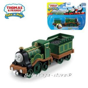 Fisher Price Влакчето ТОМАС Thomas & Friends EMILY от серията Take-n-Play - CBL90