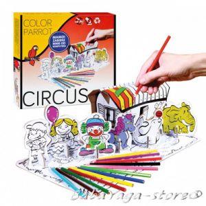 Рисувателен комплект ЦИРК за сглобяване с цветни моливи Circus Creative set colour pencils 1050