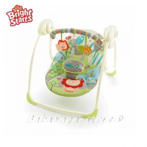 Bright Starts Люлка за бебе Portable Swing Up Up & Away, 60125