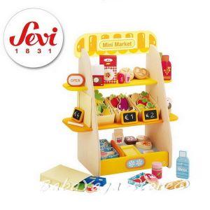 SEVI Дървена игра Мини СУПЕРМАРКЕТ, Mini Supermarket - 82681