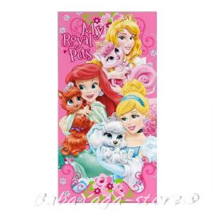 Детска Хавлия (70x140cm) Кралски любимци на Принцесите, Disney Princess Pets beach towel, WD51014