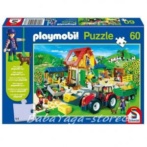 ПЪЗЕЛ Playmobil ФЕРМА с мини-фигура (60) на Schmidt - 55458