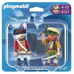 Playmobil Конструктор ПИРАТ и ВОЙНИК Pirates Pirate and Redcoat Soldier Duo Pack - 4127