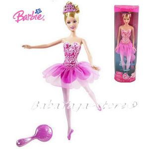 Barbie Year 2008 Fantasy Series 12 Inch Doll - BARBIE as Ballerina with Tutu, Tiara and Hairbrush (N5237)