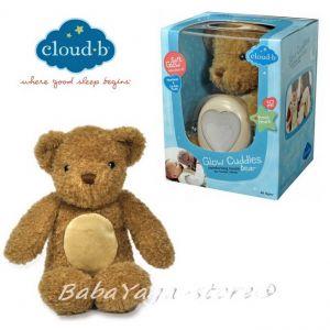 7406 МЕЧЕ плюш с туптящо и светещо СЪРЦЕ от CloudB, Glow Cuddles, Bear Toffee