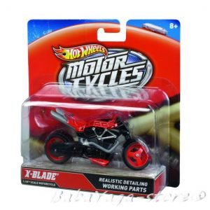 Hot Wheels 1:18 Scale Motorcycle Assorted Die-Cast Toy X4221