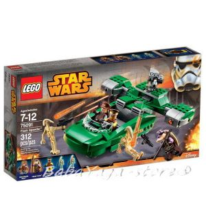 LEGO STAR WARS Светкавичен спидър Flash Speeder, 75091