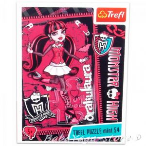 TREFL ПЪЗЕЛ за деца Монстър Хай (мини), Draculaura Monster High (54 части) - 19328