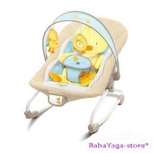 Bright Starts Шезлонг за бебе музикален с вибрации COMFORT & Harmony Cradling Rock Duck - 6978