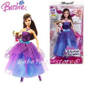 Barbie КУКЛА Барби с куче от серията Fashion Fairytale от Mattel, T5219