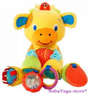 Bright Starts Мека играчка с дрънкулки BUNCH-O-FUN КРАВИЧКА