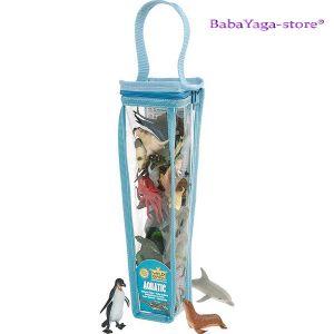 Комплект фигурки за игра - животните в ОКЕАНА от Wild Republic - 84216