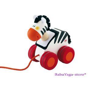 SEVI Дървена играчка за дърпане Mini ЗЕБРА