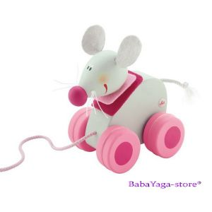 SEVI Дървена играчка за дърпане Mini МИШЛЕ