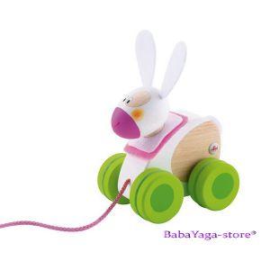 SEVI Дървена играчка за дърпане Mini ЗАЙЧЕ