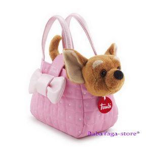 КУЧЕ ЧИХУАХУА Плюшена играчка в роз чанта Princess от серията Pets на Trudi - 29722