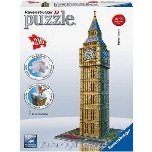 Ravensburger 3D ПЪЗЕЛ Световни забележителности: Биг Бен Часовникът в Лондон, Big Ben, 125548