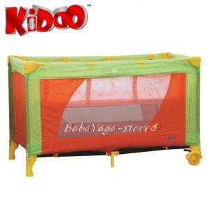 Кошарка за бебе на 2 нива FUN n NAP от KIDDO 4007 в зелен/оранжев нюанс