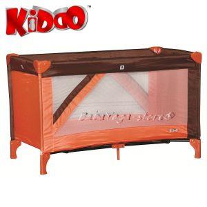 Кошарка за бебе на едно ниво FUN от KIDDO 4006 в кафяв/оранжев нюанс