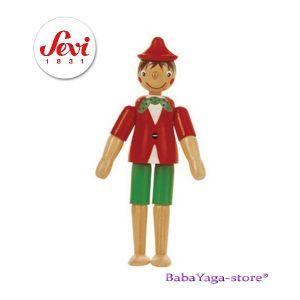 ПИНОКИО дървена фигурка с италианската марка Sevi (11cm) - 81375