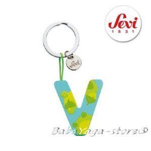 """Ключодържател - дървена БУКВА """"V"""" с марката Sevi - 82432"""
