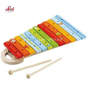 Музикална дървена играчка - КСИЛОФОН с марката Sevi - 81855 Xylophone