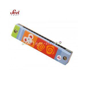 Музикална дървена играчка - ХАРМОНИКА с марката Sevi - 82268 Harmonica